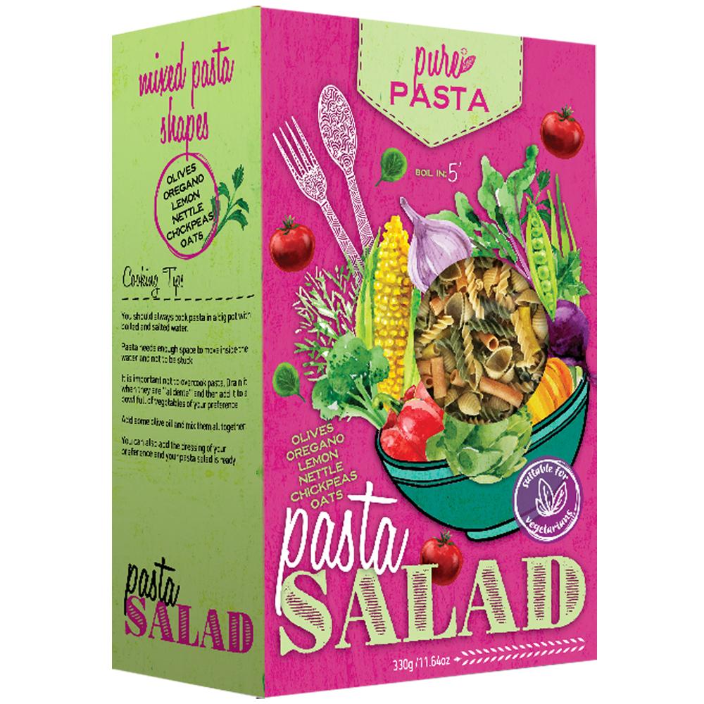 Pasta salad, mixed pasta shapes - Mystilli greek products