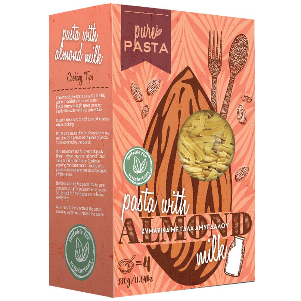 Tagliatelle with almond milk - Mystilli greek products