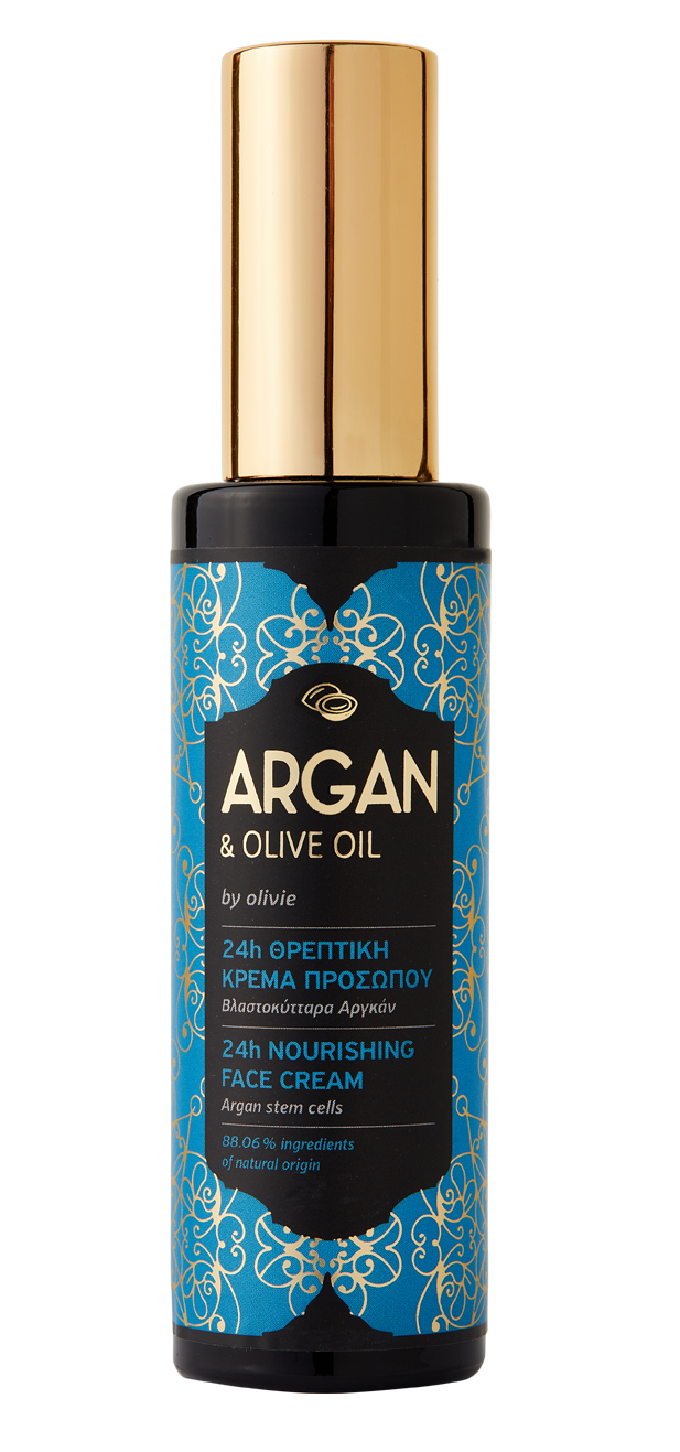Argan 24H Antiageing and Nourishing Face cream with organic olive oil, 50ml