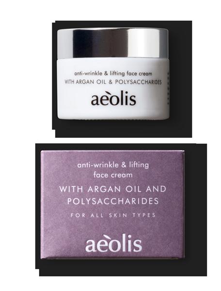 Straffende Antifaltencreme mit organischem Olivenöl, Arganöl, Polysaccharide, 50ml - Mystilli greek products
