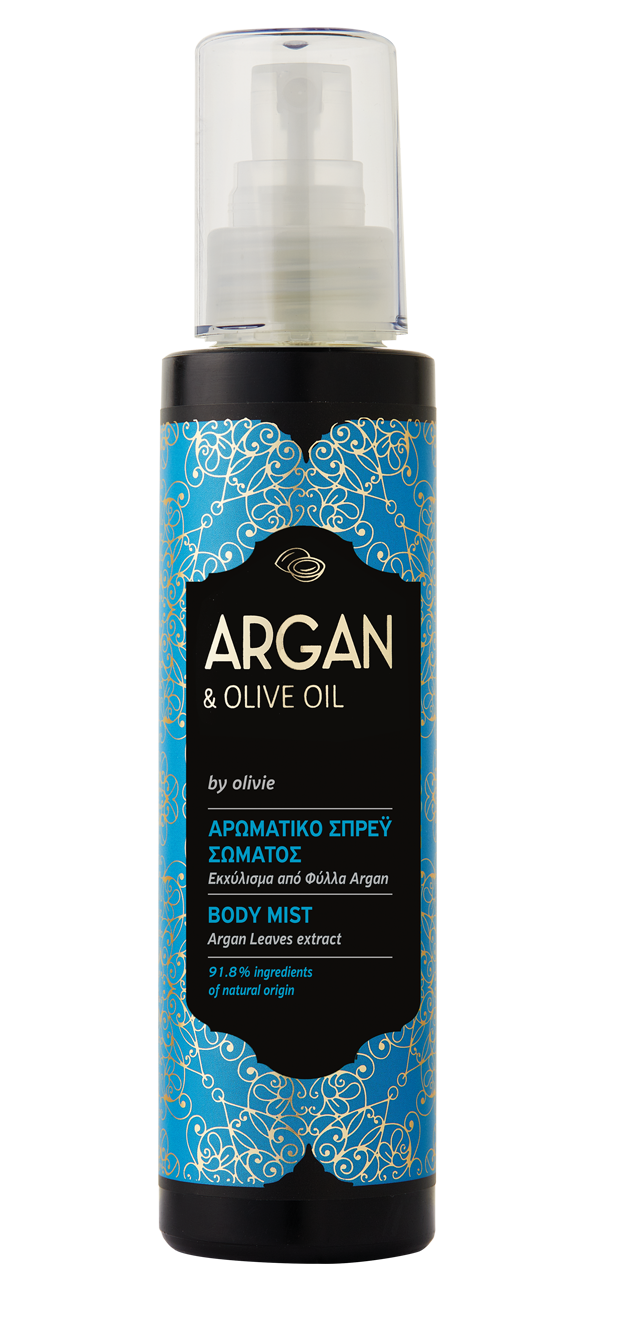 Argan Body Mist with organic olive oil, 100ml