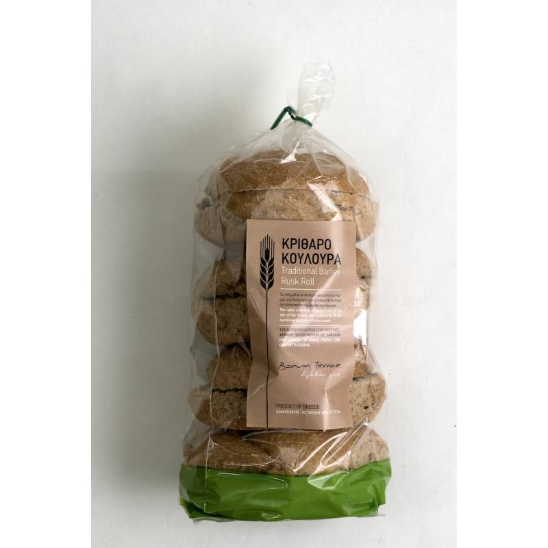 PGI Traditional Barley Rusk Rolls, 600g - Mystilli greek products
