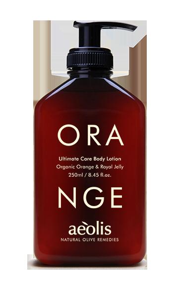 Ultimative Pflege Körperlotion mit organischer Orange und Gelée royale, 250ml - Mystilli greek products
