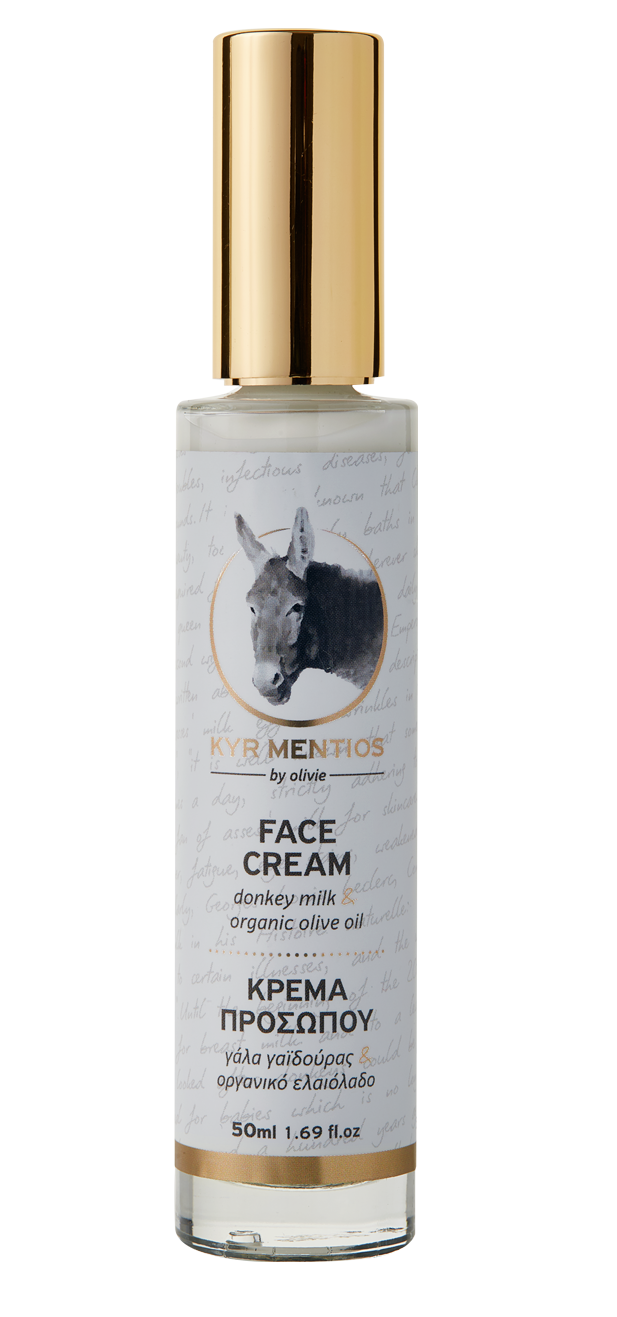 Kyr Mentios Donkey Milk Face Cream with organic olive oil, 50ml
