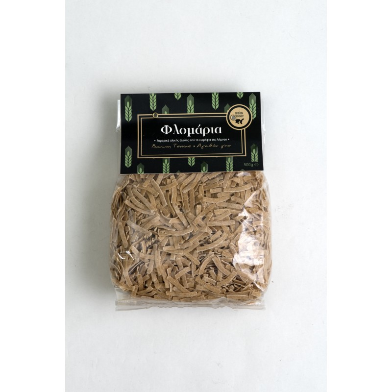 Flomaria Wholegrain Traditional Pasta from Lemnos Island, 500g - Mystilli greek products