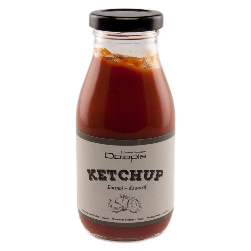 Ketchup Classic Homemade, 280g - Mystilli greek products