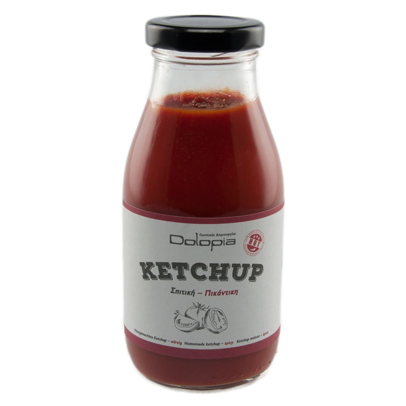 Ketchup Spicy Homemade, 280g - Mystilli greek products