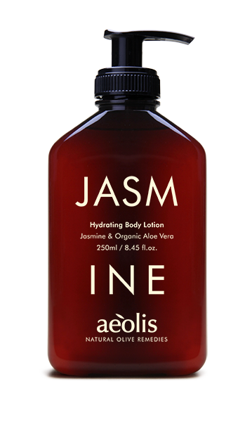 Feuchtigkeitsspendende Körperlotion mit Jasmin und organischem Aloe Vera, 250ml - Mystilli greek products