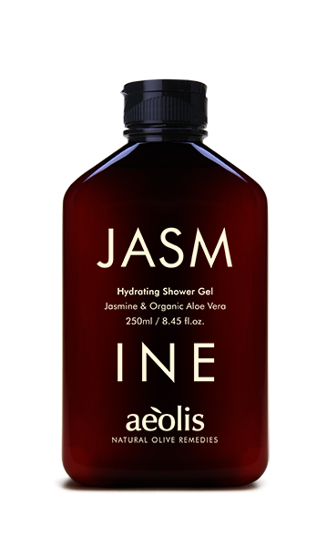 Feuchtigkeitsspendendes Duschgel mit Jasmin und organischer Aloe Vera, 250ml - Mystilli greek products
