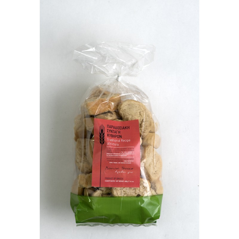 Traditional Recipe of Kithira Island Rusks, 400g - Mystilli greek products