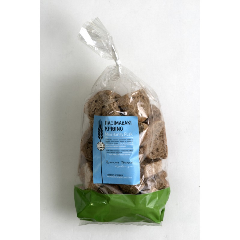 Mini Barley Rusk, 400g - Mystilli greek products