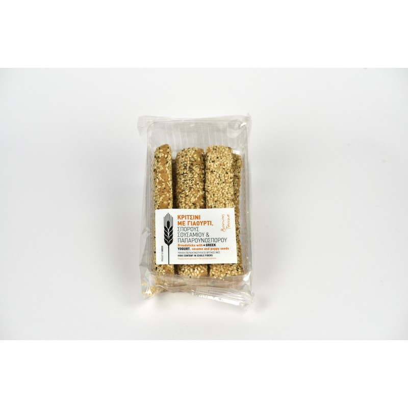 Knappergebäcke mini mit Jogurt und Mohnsamen, 120g - Mystilli greek products