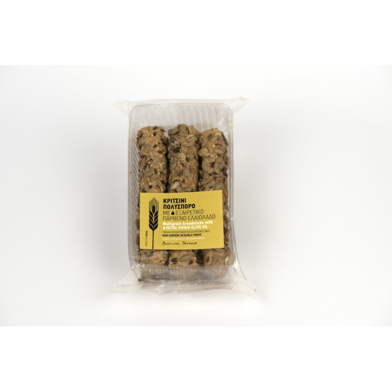 Mini Multigrain Breadsticks with extra virgin olive oil, 120g - Mystilli greek products