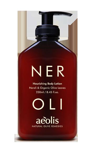 Nährende Körperlotion mit Neroli und organischen Olivenblättern, 250ml - Mystilli greek products