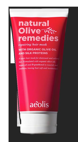 Reparierende Haarcreme mit organischem Olivenöl und Seidenprotein, 170ml - Mystilli greek products