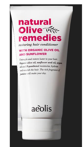 Regenerierende Haarspülung mit organischem Olivenöl und Sonnenblume,170ml - Mystilli greek products
