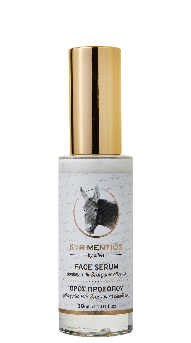 Kyr Mentios Donkey Milk Face Serum with organic olive oil, 30ml