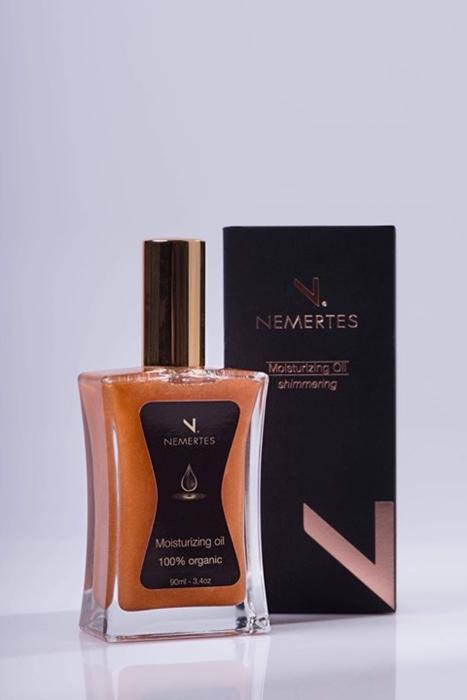 Moisturizing Body Oil Shimmering, 90ml - Mystilli greek products