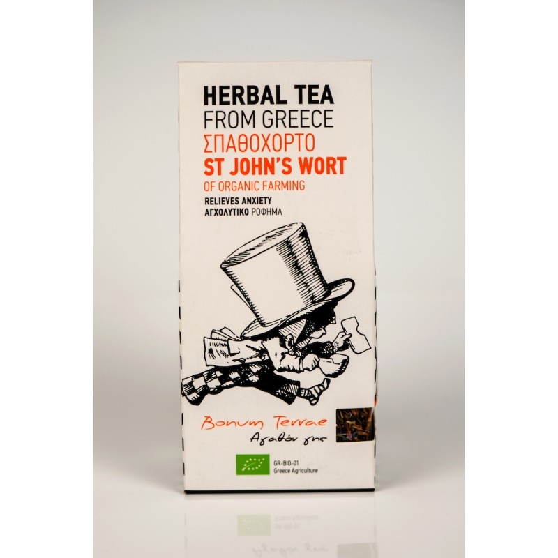 St.John's Wort Organic Herbal Tea, 30g - Mystilli greek products