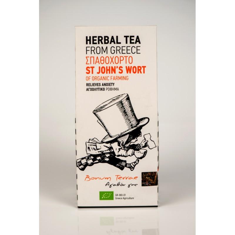 St.Johns Wort Organic Herbal Tea, 30g - Mystilli greek products