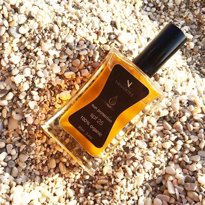 Sun Protection Organic Body Oil SPF 25, 90ml - Mystilli greek products