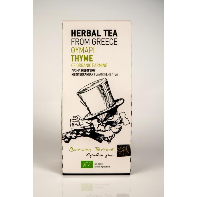 Thyme Organic Spice & Herbal Tea, 30g - Mystilli greek products